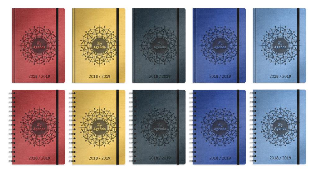 My agenda 2018-2019 - version spirale ou emboitée - 5 couleurs